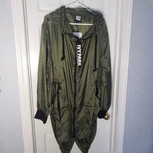 Ivy Park Para Parka Jacket in olive green NWT